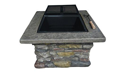 Belmont Home Wood Burning Fire Pit, Polyurethane Grey