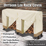 BenefitUSA Premium Large Size Log Rack Cover Benefit Firewood Rack Wood Storage Waterproof Holder Cover ( Size 8.5' L x 2.1' x 3.5' H)