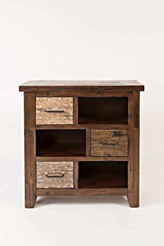 Benzara BM181655 Wooden Accent Chest with Drawers, Brown, Wood