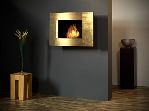 Bergamo Screen in Gold Leaf [Sale Schnäppchn Bioethanol Wall Fireplace]