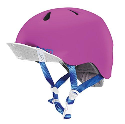 Bern Kids' Nina With Flip Visor Cycling Helmet, Satin Hot Pink, X Small