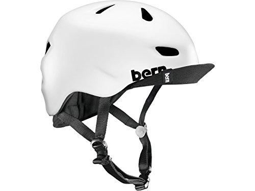 Bern Men's Brentwood Zip Mold Helmet with Flip Visor-Satin White, Large/X-Large/57-60 cm