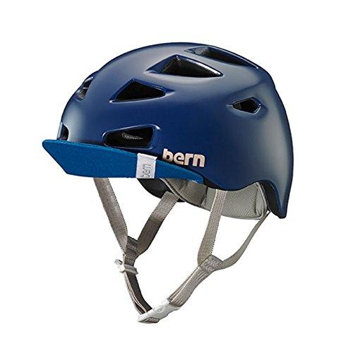Bern Satin Navy Blue 2018 Melrose with Flip Visor Womens Cycling Helmet