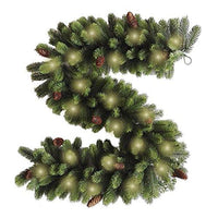 Best Artificial 6ft Premium Real Feel Christmas Garland With 12 Pine Cones 20 Warm White Battery Operated Led String Lights Indoor Outdoor Xmas 250