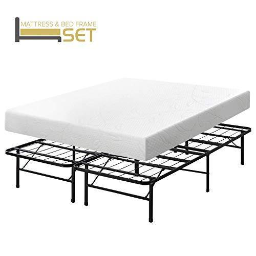 Best Price Mattress Mattress-and-Box-Spring-Sets, Foam, White, Full