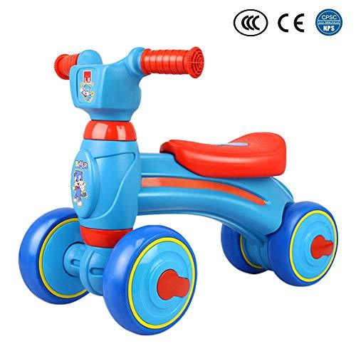 Besteffie Baby Balance Push Bike Bicycle Baby Walker Toys Rides - for 1-3 Years Old Baby - No Foot Pedal Four Wheels Infant First Birthday Gift Bike Indoor Outdoor