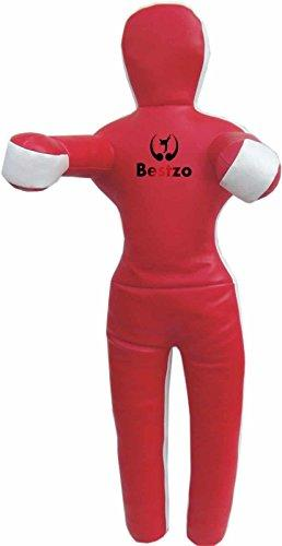 Bestzo MMA Punching Bag Brazilian Grappling Dummy Red Standing position Synthetic Leather- 59 inches