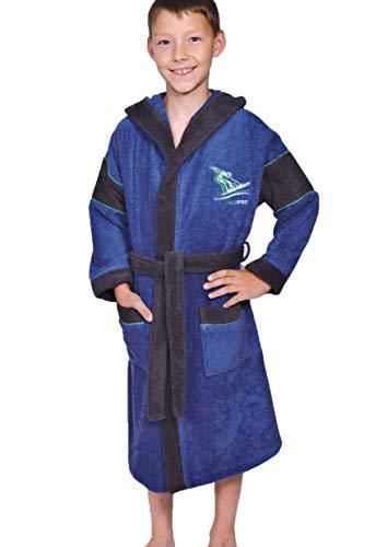 Betz Bathrobe Kids Towelling Boys Hooded Bath Robe COLD SPIRIT colour: blue size 128