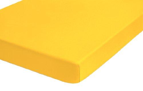"biberna""Jersey Elastic Fitted Sheet-Boxspring Mattress Topper, BLENDED FABRIC, maize, 140 cm x 200 cm"