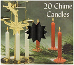 Biedermann & Sons Chime Or Party Candles, Black, 20-Count (Case of 10)