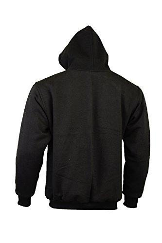 Bikers Gear The CrossFire Black Kevlar Motorcycle Hoodie Jacket CE Protection, Black, 4XL