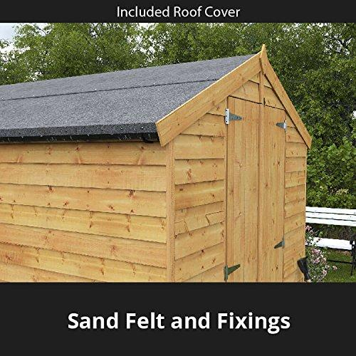 Billyoh 10x8 Wooden Shed Windowed Double Doored Master Tongue Groove Apex Shed 10ft X 8ft