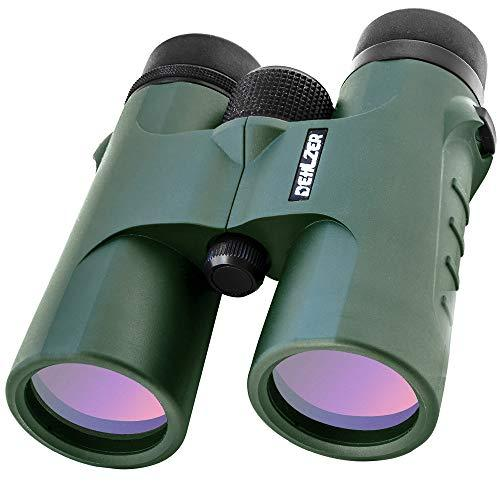 Binocular 10x42 with Tripod Mount and Carry Case | HD Quality | BAK 4 Roof Prism | Best for Bird Watching, Hunting, Camping, Travel, Hiking. Lightweight, Compact, Fogproof & Waterproof - by Dehlzer