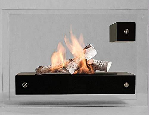 Biocamino, bio-Ethanol Fireplace APO Glass - Black