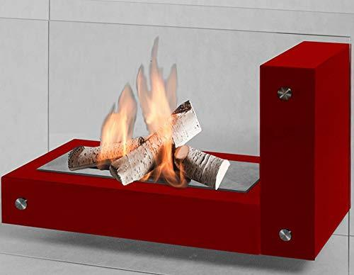 Biocamino, bio-Ethanol Fireplace APO L Glass - Red
