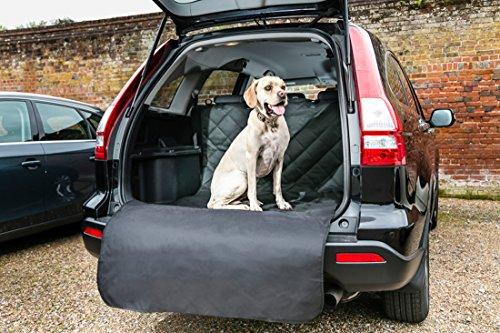 Bishopstone Pets Car Boot Liner With Extra Long Bumper Flap For Dogs Luxury Quilted Waterproof Trunk Cover Protects Your Upholstery