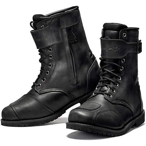 Black Heritage WP Ankle Motorcycle Boots 44 Black (UK 10)
