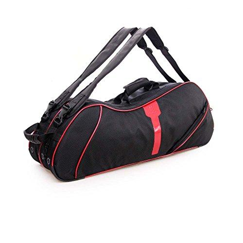 Black Temptation 2 Shoulder Straps Waterproof And Dustproof Racket Bag 6 Racquet Bag,Red