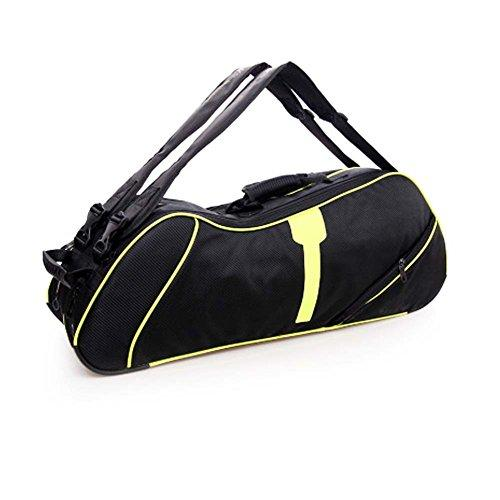 Black Temptation 2 Shoulder Straps Waterproof And Dustproof Racket Bag 6 Racquet Bag,Yellow