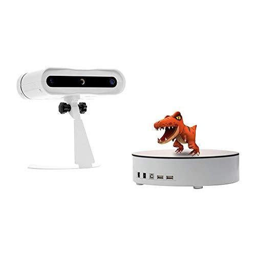 BLACKBOX CAT-1 Desktop 3D Scanner, One-touch Auto Scan <0.1mm Accuracy, 3 Million Pixels 24-Bit Real Color Camera Turntable Scanner for Education & Art & Design Use