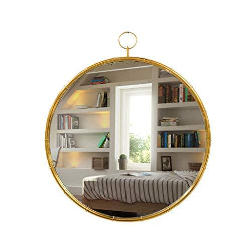Bloomy Home- European Bathroom Mirror Brass Gold Hotel Round Mirror Dressing Table Bathroom Hang Mirror Decorative Mirror