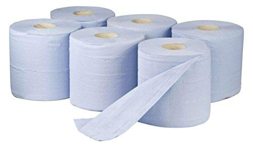 Blue Paper Rolls - 2 Ply Embossed Centre Feed ASH - Hand Towel - 130 Metre (66)
