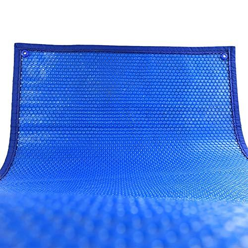 Blue Rectangle Solar Cover Edging Grommets, 15.7 Mil Heating Blanket for In-Ground and Above-Ground Swimming Pools (Size : 5.5x11m(18x36ft))