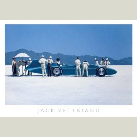 """ Bluebird At Bonneville "" - Print By Jack Vettriano Size 50 cm X 70 cm"