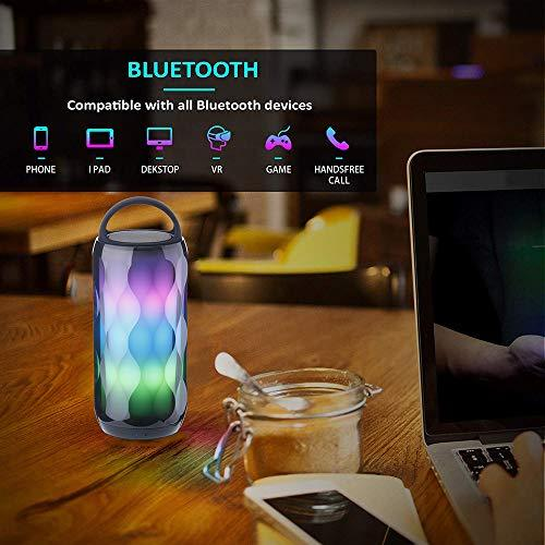 Bluetooth Speaker Portable LED Light, POHO Wireless Speaker with Smart  Touch Control 6 Color Modes RGB Color Changing Bedside Table Lamp,  Handsfree