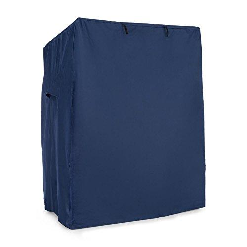 Blumfeldt Hiddensee Beach Chair Hood Protective Cover (115x160x90 cm Waterproof Front Flap with 2 Velcro-Operated Fasteners) Blue