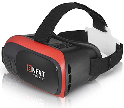 Bnext VR Headset for iPhone & Android - Virtual Reality Glasses - Play Your Best mobile Games & 360 Movies With the New 3D Goggles Plus Special Adjustable Eye System