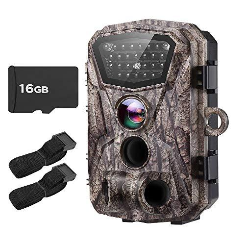 BOBLOV Trail Camera H883 18MP HD 1080P Hunting Camera Wildlife Monitor with LCD Night Vision 0.2-0.5Trigger Time Waterproof with Extra 16G Card and Belts