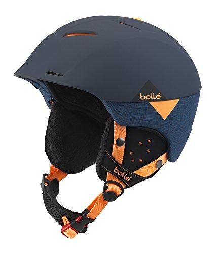 Bollé Synergy Outdoor Skiing Helmet available in Soft Navy/Orange - 54-58 cm