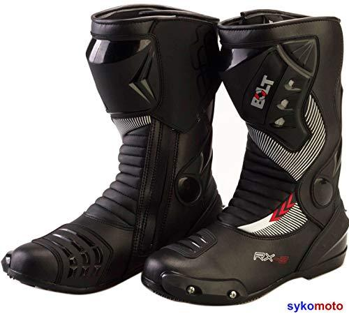 BOLT S12 SPORTS PROTECTION MOTORCYCLE RACING SLIDER WATERPROOF BLACK BOOTS 11/45
