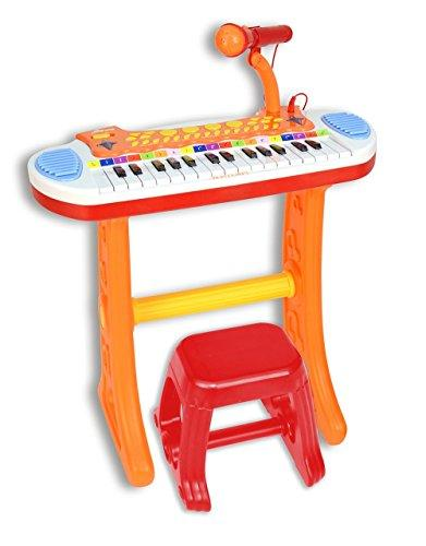Bontempi 13 3225 Electronic Keyboard with Microphone and Stool