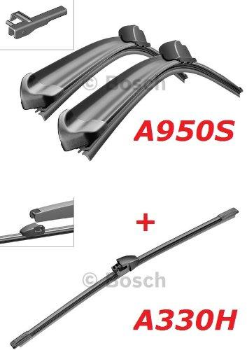 Bosch Windscreen Wipers and Front.- Heckwischer-Aerotwin A950S Length: 700 / 700 MM (3397118950) &A330H Length: 330 MM (3397008006)