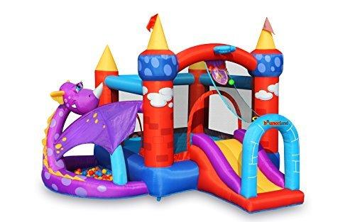 Bounceland 9022 Bounce House-Dragon Castle with Ball Pit
