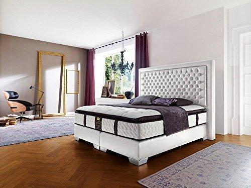 Box Spring Bed Millenium Complete Bed Faux Leather 180 x 200/200 x 200 CM Hotel Bed