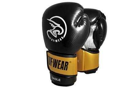 Boxing Glove Eagle Safety Spar Black (Black/Gold, 14oz)