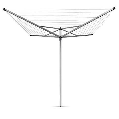 Brabantia Top Spinner Rotary Dryer with 45mm Metal Soil Spear, 50m, 4 arms