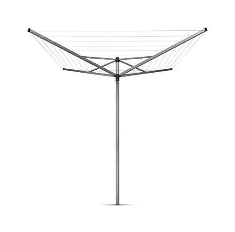 Brabantia Topspinner Rotary Clothes Dryer with 45 mm Metal Ground Spike - 40 m