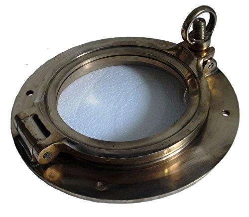 "Brass Blessing - Marine BRASS Port Hole/Window/Porthole - 6"" Glass - TOUGHENED GLASS -Nautical/Boat/Maritime (5083)"