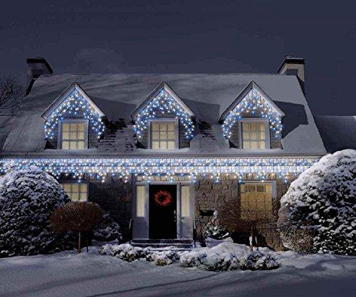 Bravich 360 blue white led snowing icicle lights indoor bravich 360 blue white led snowing icicle lights indoor outdoor snowing christmas fairy aloadofball Image collections
