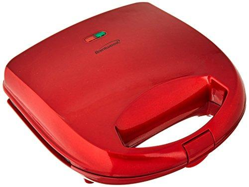 Brentwood Appliances TS-240R Sandwich Maker, Red