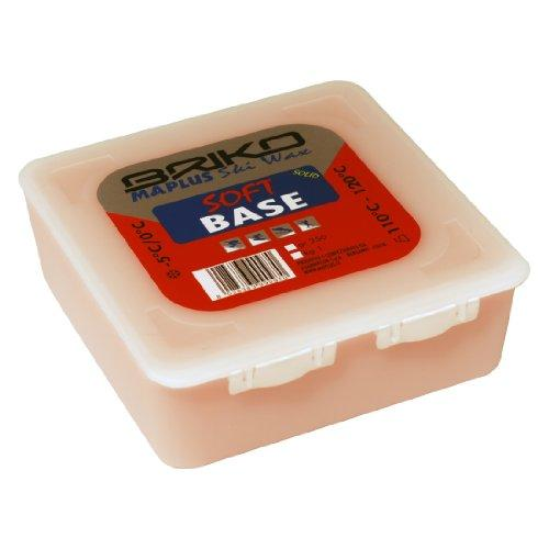 Briko-Maplus Soft Base Ski and Snowboard Solid Wax - Red, 250 g