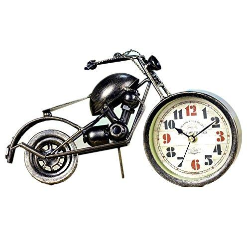 Bronze creative home decorations motorcycle clock metal crafts
