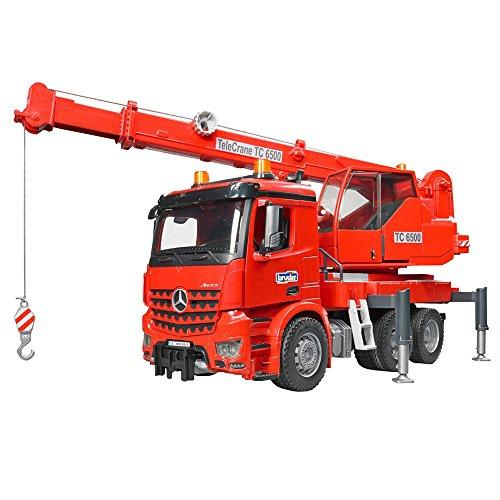 Bruder 03670 MB Arocs Crane Truck Toy with Light and Sound Module