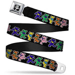 Buckle Down Boys Seatbelt Belt Grateful Dead Kids, Dancing Bears Black/Multi Color, 20-36""