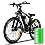 Bunao 26 inch Wheel Electric Bike Aluminum Alloy Frame 36V 8AH Lithium Battery Mountain Bike Cycling Bicycle, Shimano 21-speed (26 inch_1)