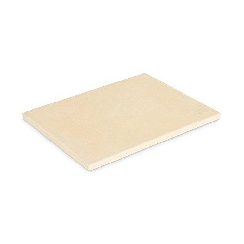 BURNHARD Pizza Stone for Oven and Grill | Made of Cordierit | Rectangular | Suitable for Bread, Tarte Flambée and Pizza Grilling Stone | Bread brick